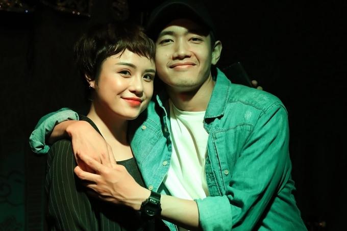 Quang Đăng đến ủng hộ bạn gái trong đêm nhạc hôm 17/3.