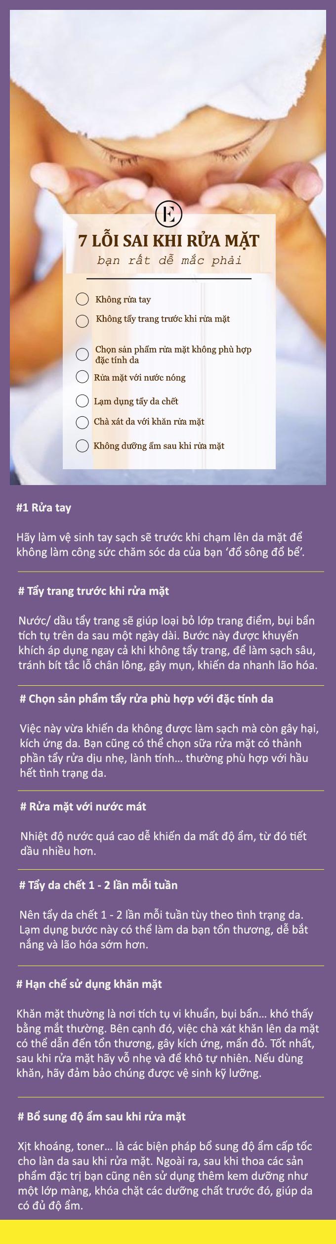 7 lỗi sai ai cũng có thể mắc phải khi rửa mặt