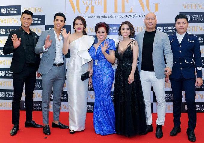 Nhiều nghệ sĩ đã có mặt tại buổi họp báo công bố cuộc thi Hoa Hậu Việt Hoàn Vũ 2020.