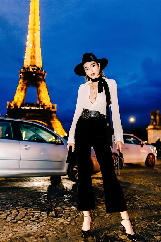 Kỳ Duyên rất thích vẻ đẹp thanh lịch, lãng mạn của Paris.