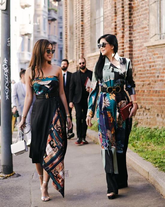 Cựu diễn viên Thủy Tiên và con gái Thảo Tiên cũng không bỏ lỡ cơ hội chiêm ngưỡng các bộ sưu tập mới tại Milan Fashion Week vừa tổ chức ở Italy.