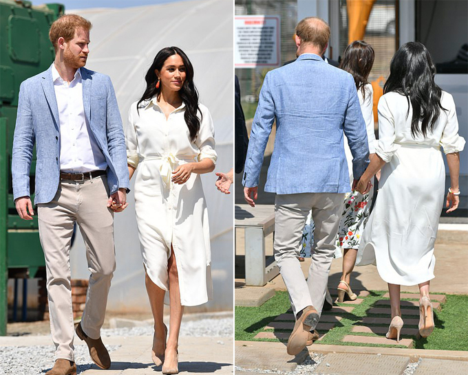 Hôm 2/10, Công tước và Nữ công tước xứ Sussex cùng có mặt ở Johannesburg sau 6 ngày xa cách.