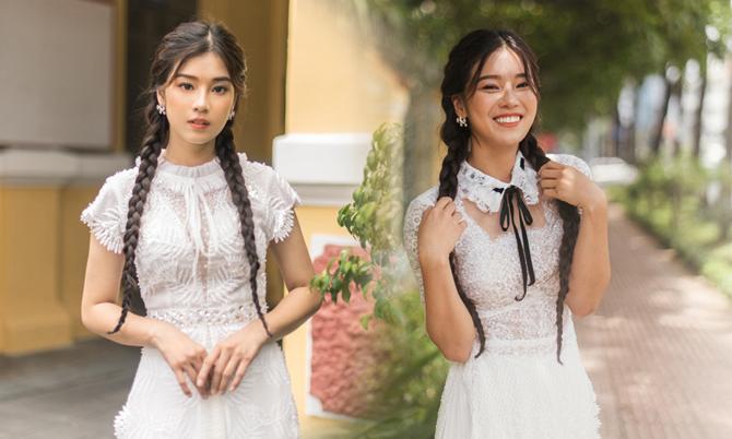 Hoàng Yến Chibi mặc áo dài cách tân