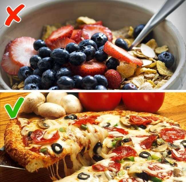 Chỉ ăn ngũ cốc Ngũ cốc là món ăn sáng tiện lợi nhưng đa phần các loại ngũ cốc đóng túi đều chứa nhiều đường, không tốt cho sức khoẻ. Bạn nên có bữa sáng đầy đủ các nhóm chất để cơ thể có đủ năng lượng hoạt động.