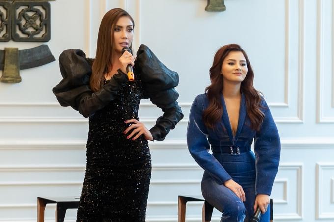 Hai nữ giám khảo đưa ra nhiều nhận xét, góp ý thẳng thắn giúp thí sinh có thể tiến bộ.