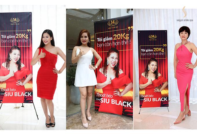 Chiến dịch Thoát béo cùng Siu Black thu hút hàng nghìn chị em tham gia để tìm ra người có số đo và cân nặng giảm ấn tượng nhất.