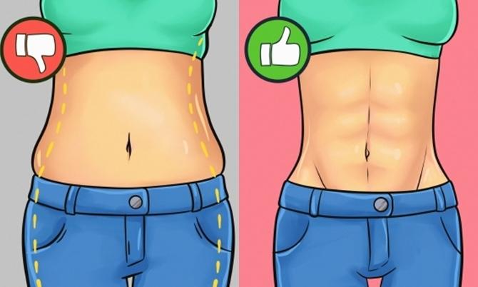 5 phút tập luyện đánh tan mỡ bụng