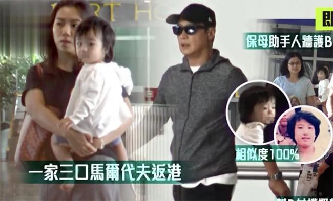 Cả nhà Lê Minh lộ diện ở sân bay Hong Kong hôm 15/10.