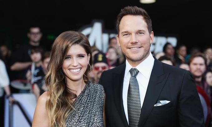 Bà xã luôn đồng hành cùng Chris Pratt trong các sự kiện.