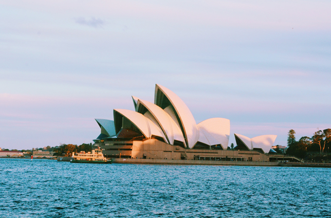 Nhà hát Opera Sydney trong ánh chiều tà. Ảnh: Nguyên Chi