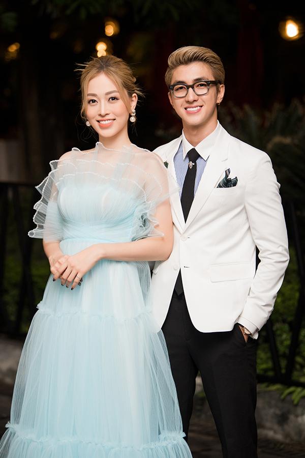 Á hậu Phương Nga đồng hành với bạn trai, diễn viên Bình An tại sự kiện.