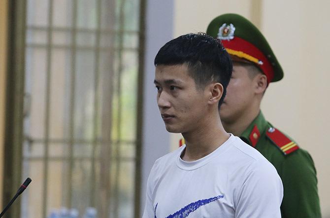 Phạm Minh Học tại phiên phúc thẩm sáng 31/10. Ảnh: Sơn Thủy.