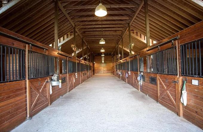 Trang trại ngựa với 12 chuồng.