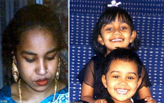Juli (26 tuổi), Anika (5 tuổi) và Thanha (6 tuổi) - nạn nhân bị Mohammed Abdul Shakur giết hại năm 2007. Ảnh: Central News.