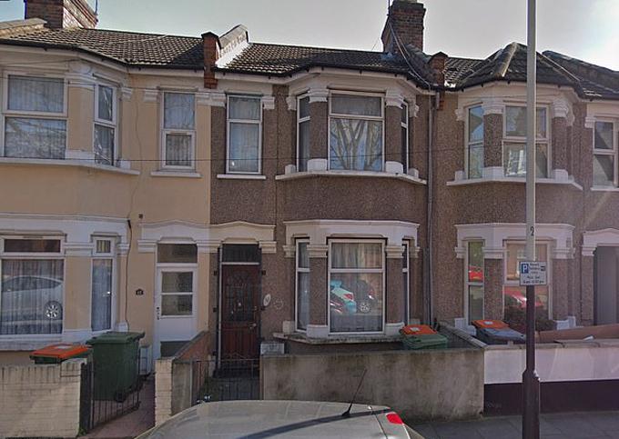 Ngôi nhà ở London, nơi Shakur giết vợ và hai con năm 2007. Ảnh: Google.