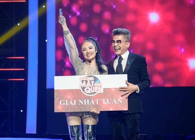 Nhật Thủy giành giải nhất đêm thi đầu tiên.