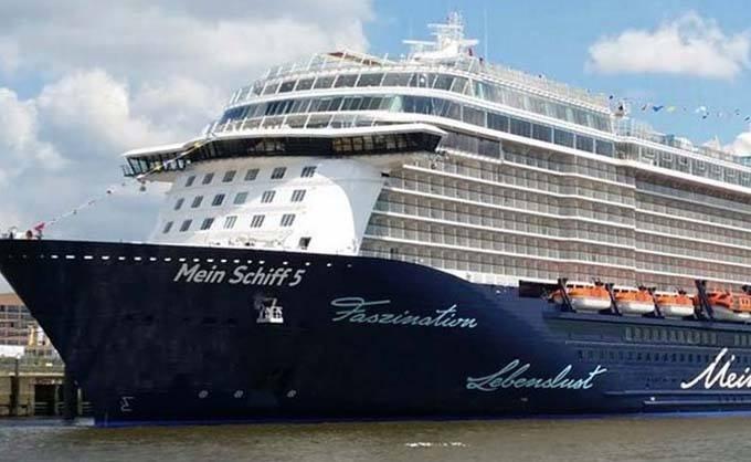 Du thuyền Mein Schiff 5 của công ty du lịch TUI Cruises, Đức. Ảnh: Stock Image.