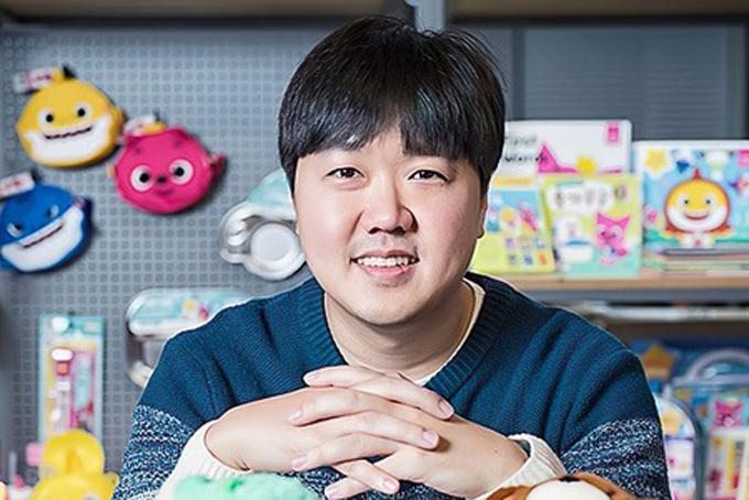Doanh nhân Kim Min-seok, người đứng sau thành công của ca khúc Baby Shark. Ảnh: Bloomberg.