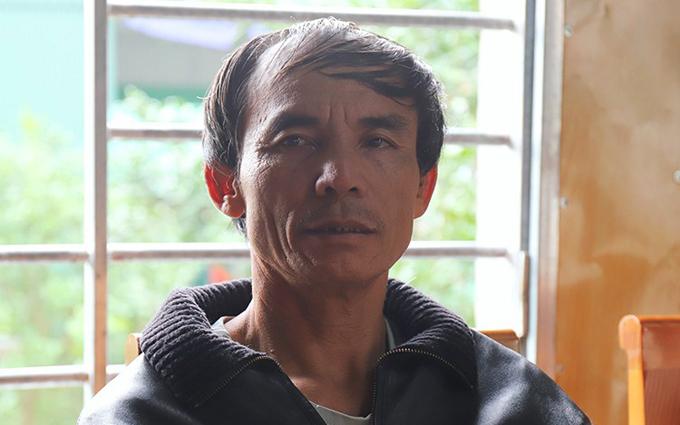 Ông Võ Văn Bình, bố anh Võ Văn Linh. Ảnh: Hùng Lê.