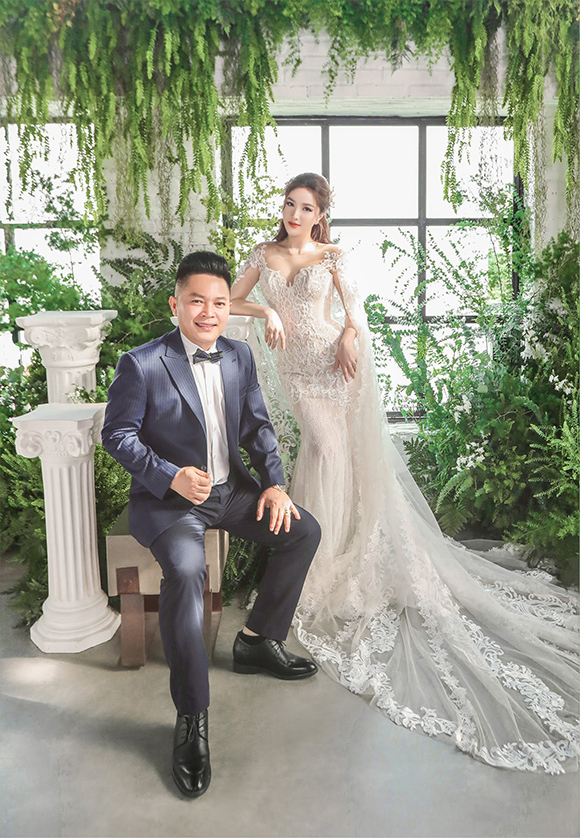 Ảnh cưới của Bảo Thy và ông xã Phan Lĩnh. Ảnh: Tee Le