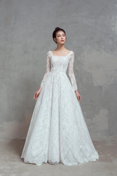 Mỗi tấm áo cưới của NTK Thịnh Nguyễn đều lấy cảm hứng từ vẻ đẹp đa dạng của phụ nữ Việt.