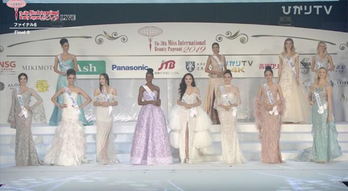 Top 8 chung kết Hoa hậu Quốc tế 2009.