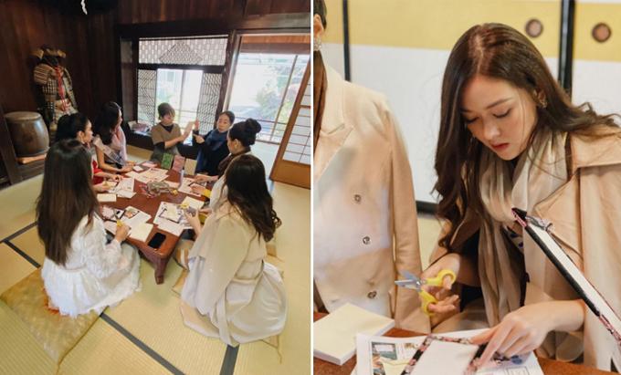 Ngày thứ 2 ở tỉnh Yamanashi, người đẹp cùng các thí sinh chăm chú học làm một cuốn sổ bọc bìa vải hoa. Lớp học do các nghệ nhân Nhật Bản trực tiếp hướng dẫn. Đây là một trong những nghề truyền thống nổi tiếng ở tỉnh này, tạo ra những món đồ lưu niệm mà du khách nào đến Yamanashi cũng muốn mua về làm quà.