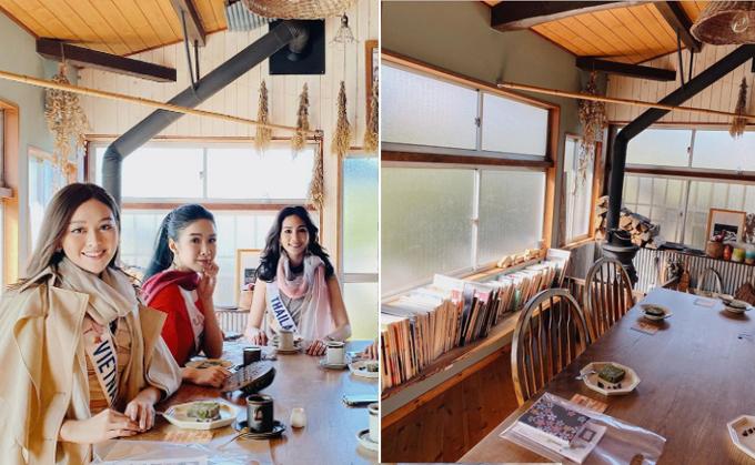 Trong thời gian thi ở tỉnhYamanashi, Tường San và nhóm người đẹp thân thiết rủ nhau tới tiệm cà phê kiêm nhà nghỉ truyền thống mang tênFugaku vàHitsuki. Tại đây, Á hậu thưởng thức bánh matcha, uống cà phê và cùng chiêm ngưỡng phòng trưng bày đồ gỗ. Quán có quy mô nhỏ, có mở đặt phòng trên AirBnb.