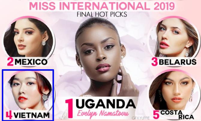Tường San được dự đoán vào top 5 Miss International