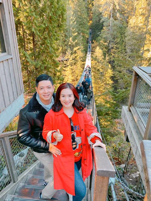 Vợ chồng Bình Minh đi Canada đón sinh nhật