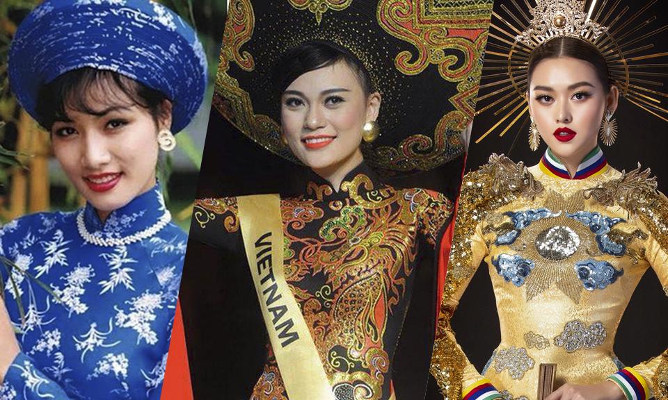 Bốn lần áo dài thắng giải 'Trang phục dân tộc đẹp nhất'