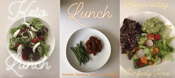 Bữa trưa của nữ diễn viên luôn có nhiều rau xanh cùng protein từ thịt hoặc trứng.