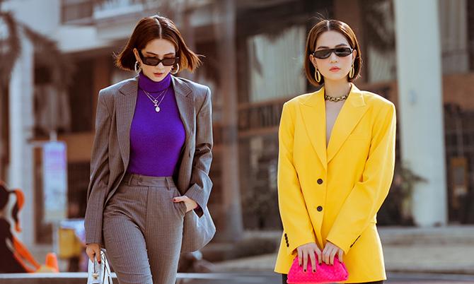Ngọc Trinh cập nhật trend dạo phố