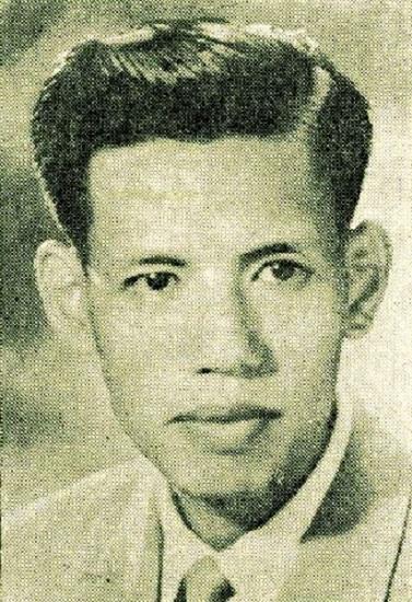 Bức ảnh chân dung nhạc sĩ Hoàng Trọng do con trai chia sẻ.