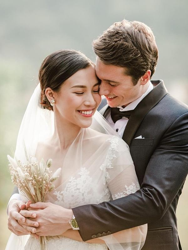 Ảnh cưới của Hoàng Oanh và ông xã Jack Kevin Cole. Ảnh: Trương Thanh Hải