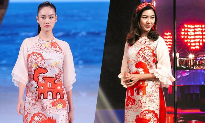 NTK Thuỷ Nguyễn bị nhà mốt Trung Quốc copy mẫu áo dài