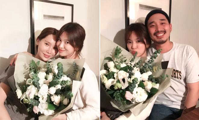 Song Hye Kyo đón sinh nhật bên bạn bè.