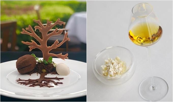 Bên cạnh đó, món tráng miệng ở đây cũng được đánh giá cao. Năm 2013, tờ Telegraph (Anh) xếp Sirocco là một trong những nhà hàng có món tráng miệng đắt nhất thế giới với món ăn có tên gọi Oak, giá 24.500 baht (khoảng 18,8 triệu đồng). Oak gồm 3 món: đầu tiền là chuối và thạch phục vụ chung với rượu Chateau La Tour Blanche, thứ hai là foie gras (gan ngỗng) cùng chocolate Amedei, mâm xôi và rượu Grahams port vintage 1983. Cuối cùng lànấm truffle, chocolateArmedei, mật ong dùng chungvới rượuLor de Martell cognac.