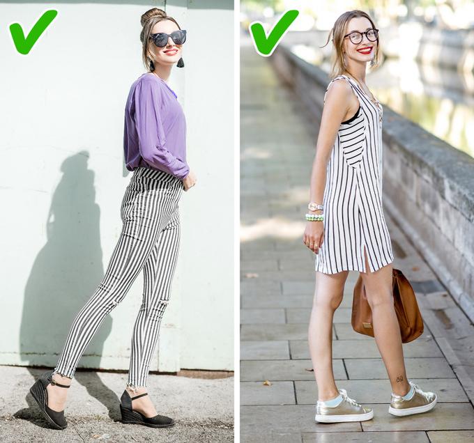 9 bí quyết mặc đồ giúp kéo dài đôi chân