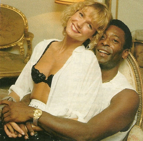 Huyền thoại Pele từngcó cuộc tình với người đẹpXuxa kém 24 tuổi. Ảnh: Twitter.