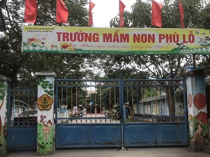 Trường mầm non Phù Lỗ (Sóc Sơn, Hà Nội).