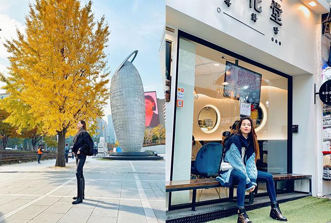 Tháng 11 là tháng sinh nhật Hồ Ngọc Hà. Trước khi tổ chức bữa tiệc hoành tráng ở Thái Lan, nữ ca sĩ đã có chuyến du lịch ngắm lá vàng ở thủ đô Seoul (Hàn Quốc).