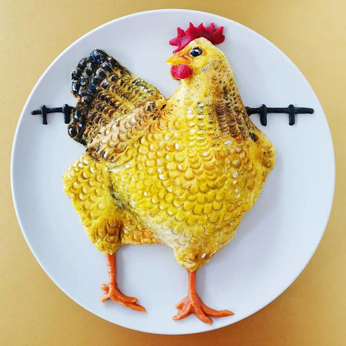 Cách tạo hình đĩa cơm hình động vật nhìn như thật