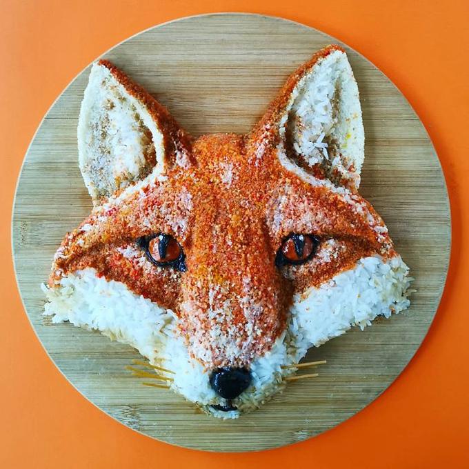 Cách tạo hình đĩa cơm hình động vật nhìn như thật - 6