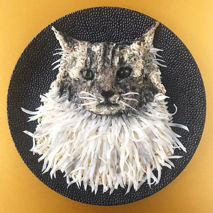 Cách tạo hình đĩa cơm hình động vật nhìn như thật - 5