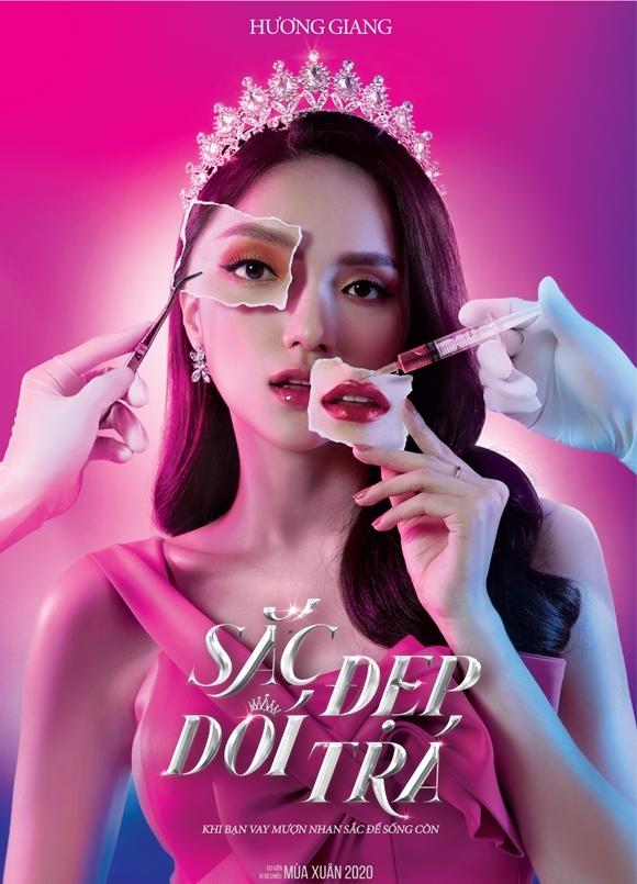Hình ảnh đầu tiên của Hương Giang trong phim được hé lộ qua poster.