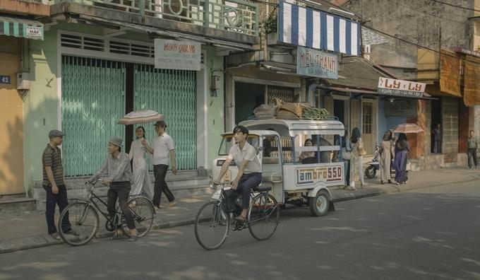Đường phố ở Huế tái hiện cuộc sống thập niên 1970.
