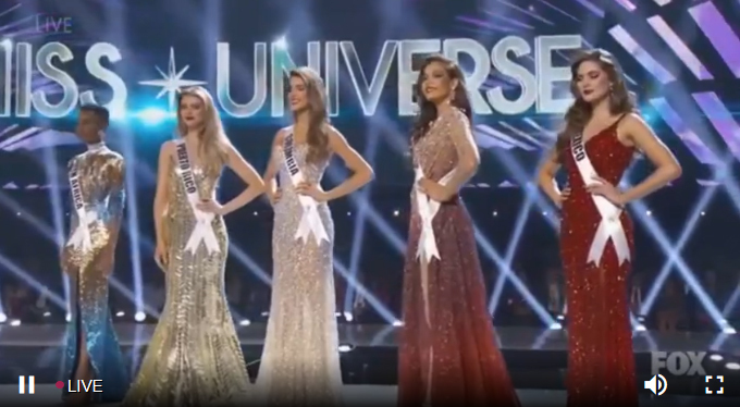Top 5 Miss Universe.