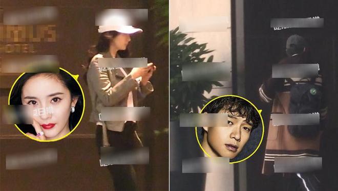Dương Mịch và Lưu Khải Uy vào cùng một khách sạn hôm cuối tuần trước.