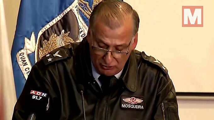 Ông Arturo Merino, chỉ huy trưởng lực lượng Không quân Chile phát biểu hôm 12/12, nhận định khó còn người sống sau tai nạn máy bay.